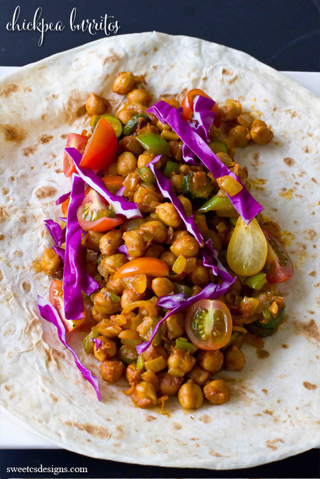 Vegan Chickpea Burritos - Sweet C's Designs | My Vegan recipes | Scoop.it