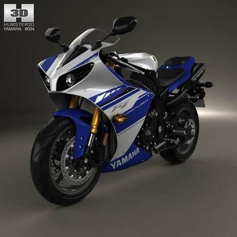 3D model of Yamaha R1 2014   3D models   Scoop.it