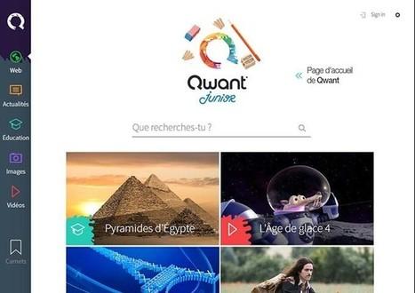 Qwant Junior, un moteur de recherche sûr pour vos enfants | ent, tbi & tablettes: usages pédagogiques | Scoop.it