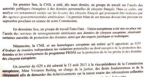 Prism : la CNIL répond à la Ligue des droits de l'homme - L'Express   régulation d'internet ???!!!   Scoop.it