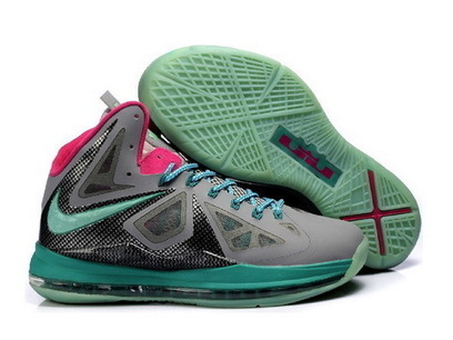 Nike LeBron 10 P.S South Beach Gray Pink Jade - Cheap Lebron 10 Sale | 2012 Fashion Moncler Womens Jackets | Scoop.it