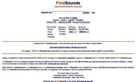 FindSounds, potente buscador con más de un millón de sonidos y efectos   Recull diari   Scoop.it