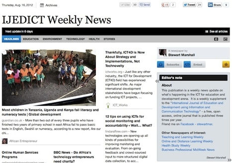 Aug 16 - IJEDICT Weekly News is out | Studying Teaching and Learning | Scoop.it