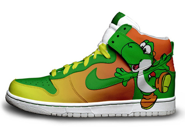 Nike Dunks Yoshi SB High Top Shoes [super-mario-shoes-1011] - $88.00 : DC Comic Dunks ,Marvel Comic Dunks, Superhero Nike Dunks Shoes ,Superman ,Batman ,Spiderman,Captain America Nikes | Hello Kitty Nike Dunks | Scoop.it
