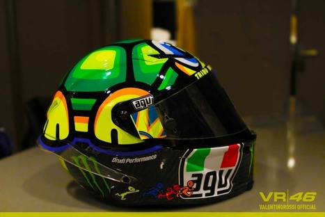 MotoGP: Valentino Rossi's 2013 Mugello Helmet | Ductalk Ducati News | Scoop.it