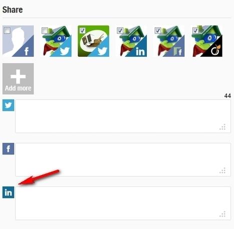 Nouveauté Scoop.it : la personnalisation du message LinkedIn en partage | web@home    web-academy | Scoop.it