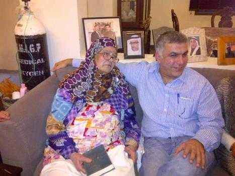 Nabeel Rajab with his Mother, after his release... | Human Rights and the Will to be free | Scoop.it