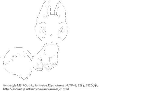 狐 (動物)   ASCII Art   Scoop.it