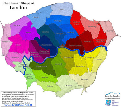 London in Maps | Views of the World | Cartography | Scoop.it