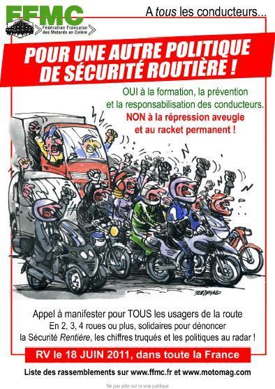 @-motoblog | Sécurité Routière : Manifestations du Samedi 18 Juin 2011 | @motoblog | Scoop.it