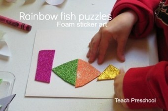 Making rainbow fish puzzles in preschool | early childhood | Scoop.it