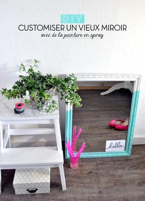 DIY : Un miroir menthe à l'eau un brin graphique ! | décoration & déco | Scoop.it