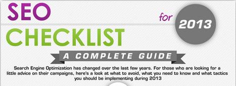Infographie : Checklist SEO 2013 - Actualité Abondance | Brand content & marketing et usages numériques | Scoop.it