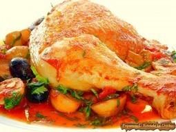 Pulpe de pui cu ciuperci si masline | Food and recipes | Scoop.it