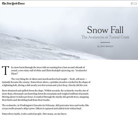 Snowfallen StoryTelling: 150+ Examples of Long-Format Multimedia Stories | Content Creation, Curation, Management | Scoop.it