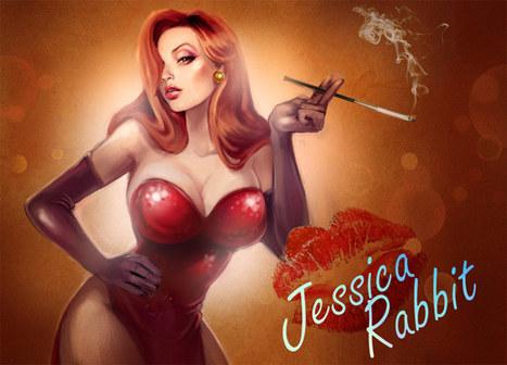 Jessica Rabbit – 15 illustrations in tribute to the sexiest women in red | Celebrating Fabulosity: Pinup to Burlesque! | Scoop.it