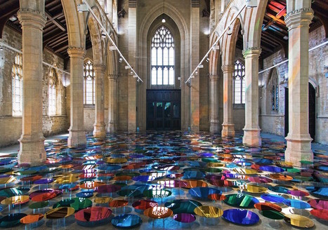The Floor of an Historic Church Transformed Into a Reflective Pool of Multi-Colored Orbs by Liz West | CLOVER ENTERPRISES ''THE ENTERTAINMENT OF CHOICE'' | Scoop.it