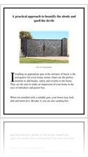 A practical approach to Beautify the Abode and Quell the Devils   Electric gates   Scoop.it