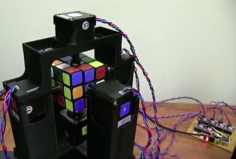 Watch a robot solve a Rubik's Cube in one second   Raspberry Pi   Scoop.it