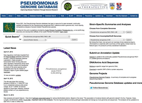 Pseudomonas Genome Database | bioinformatics-databases | Scoop.it
