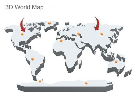 3D World Map for Apple Keynote | Editable & Ready-to-use PPT slides (information, maps, graphs, data) | Scoop.it