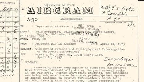 Desclasifican documentos de EEUU sobre la dictadura brasileña ... - CubaDebate | Archivos Exagono | Scoop.it