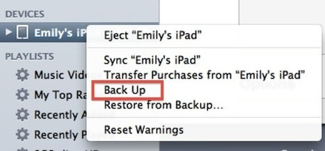 How To Manually Back Up Your iPad to iTunes on Your Computer | iPad Academy | iPads, MakerEd and More  in Education | Scoop.it