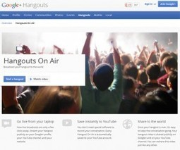 The Top 5 Ways an Author Can Use Google+ Hangouts on Air | Google+ Hangouts - Excellent examples and cool features | Scoop.it