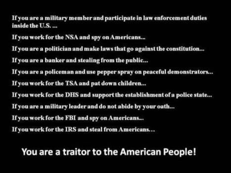 Twitter / JWMacey: If You Are... You Are A Traitor ... | Criminal Justice in America | Scoop.it
