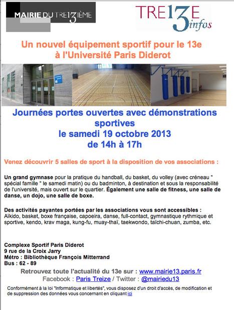 Paris XIIIème: Un nouvel équipement sportif pour le 13e à l'Université Paris Diderot | actions de concertation citoyenne | Scoop.it