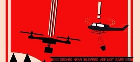 Californie : des drones perturbent la lutte contre les incendies   Libertés Numériques   Scoop.it