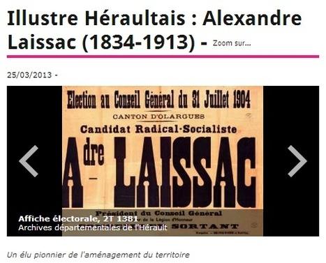 Alexandre Laissac (1834-1913) un élu pionnier de l'aménagement du territoire | Pierresvives.fr | Nos Racines | Scoop.it