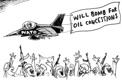 "Libya : ""half-life"" period - Middle East #Cartoon ""Nato will Bomb 4 oil concessions"" 