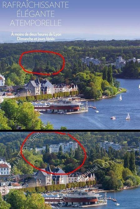 En gommant un immeuble de la photo, Vichy est plus verte | Auvergne Patrimoine | Scoop.it