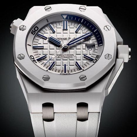 Audemars Piguet Royal Oak Offshore Diver : l'une des plus belles montres blanches... | Montre, Horlogerie,Chronos | Scoop.it