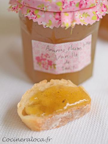 Confiture d'ananas au rhum vieux, vanille de Tahiti | La cocinera loca | Recettes à la Vanille | Scoop.it