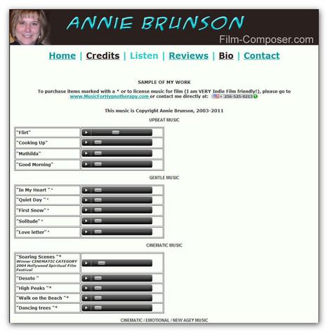 Annie Brunson Film Composer | Machinimania | Scoop.it
