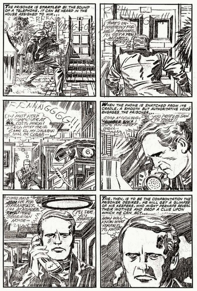 "Jack Kirby's unpublished adaptation of 'The Prisoner' | Jack ""King"" Kirby 