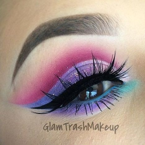 Colorful Eye Makeup | At Home Beauty Treatments | Scoop.it