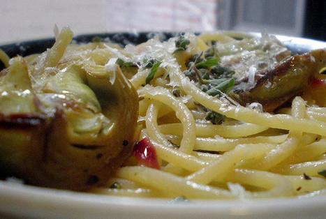 Spaghetti ai carciofi e noci di Ricette Online | Ricette Online | ricette della tradizione | Scoop.it
