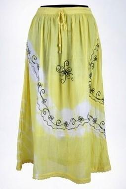 Gloria Yellow Amazing Cotton Skirt | EdayGarments- Buy Dresses, skirts, tops, Tunics | Scoop.it