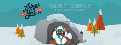 Adopt A Yeti And 200+ Cool Website Designs Inspire | Design Revolution | Scoop.it