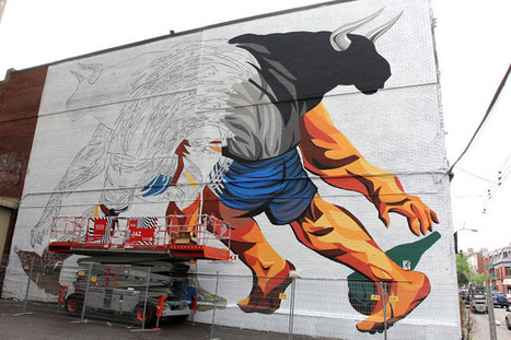 Mural '15: JAZ working on a massive mural in Montreal, Canada | Street Art and Street Artists | Scoop.it