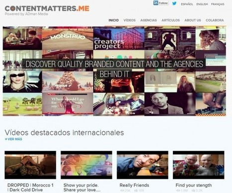 contentmatters, videoteca de Branded Content con creaciones de 75 agencias de 21 países | Digital Branded Content | Scoop.it