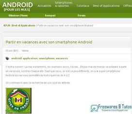 Le site du jour : les meilleures applications Android pour bien préparer ses vacances | Freewares | Scoop.it