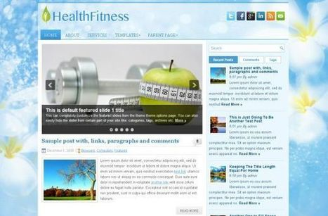 Free Blue Health Fitness Wordpress Theme Template | diettplans | Scoop.it
