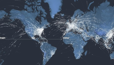 In flight: see the planes in the sky right now – interactive | Datavisualisation | Scoop.it