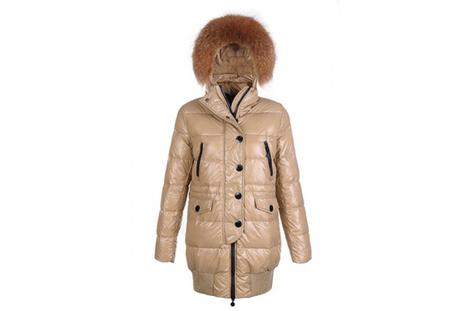 Moncler Women Loire Long Down Coat Khaki | share list | Scoop.it