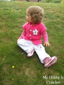 My Hobby Is Crochet: Little Girl's Cardigan with Short Sleeves | Crochet.... | Scoop.it
