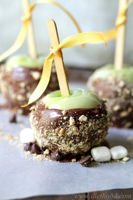 #RECIPE - S'Mores Apples | The Man With The Golden Tongs Hands Are In The Oven | Scoop.it